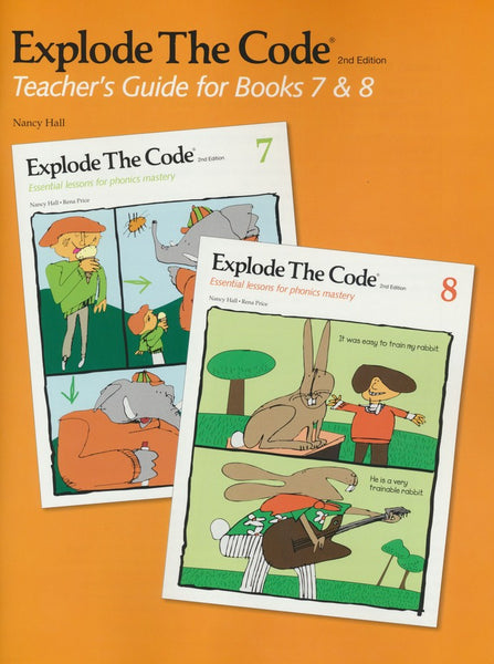 Explode the Code 7, 8 and Teacher's Guide bundle (2nd Edition)