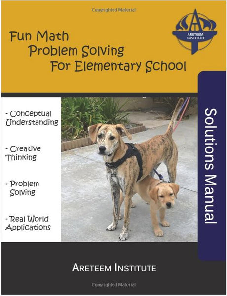 Fun Math Problem Solving For Elementary School Book and Solutions Manual