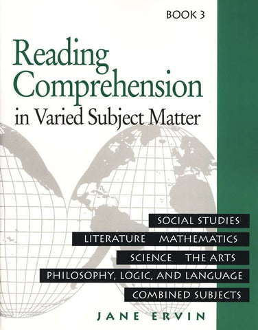 Reading Comprehension in Varied Subject Matter Book 3
