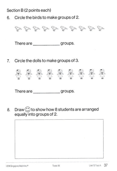Singapore Math Tests 1B (Common Core Edition)