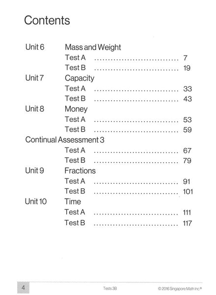 Singapore Math Tests 3B (Common Core Edition)