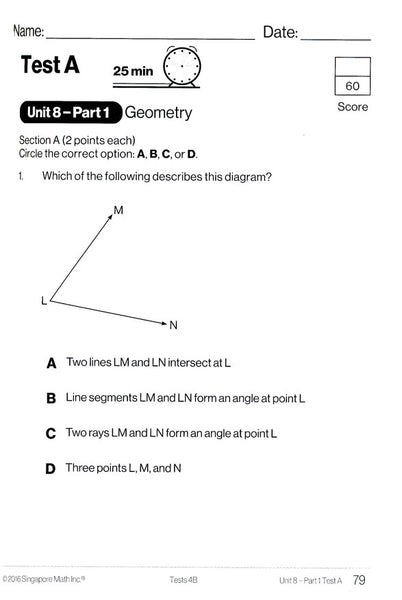 Singapore Math Tests 4B (Common Core Edition)
