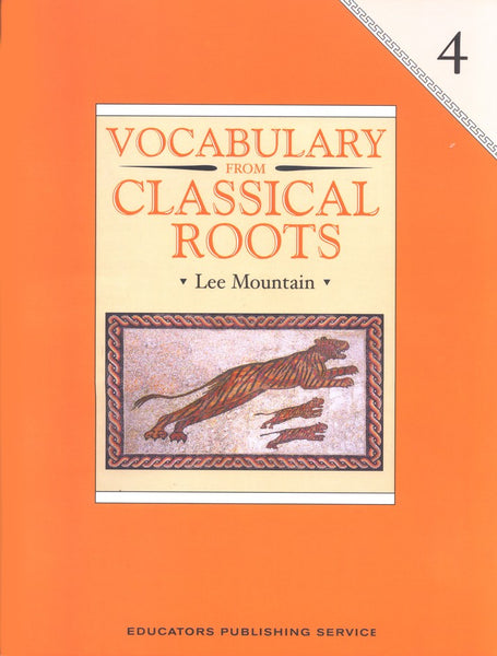 Vocabulary from Classical Roots Student Book 4 and Answer Key Set