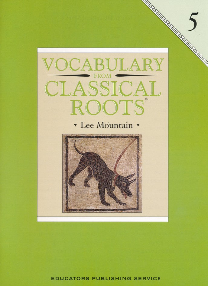 Vocabulary from Classical Roots Student Book 5 and Answer Key Set
