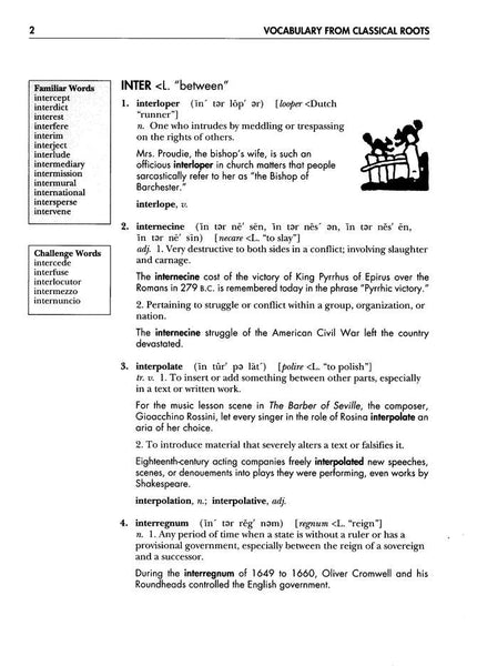 Vocabulary from Classical Roots Student Book E (Grade 11) and Answer Key Set