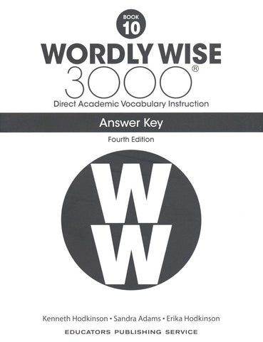 Wordly Wise 3000 Book 10 Answer Key (4th Edition)