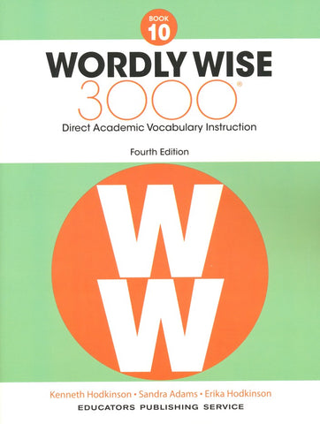 Wordly Wise 3000 Book 10 Student Book and Answer Key Set (4th Edition)