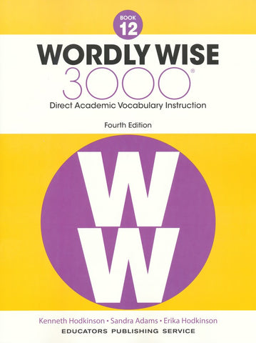 Wordly Wise 3000 Book 12 Student Book and Answer Key Set (4th Edition)
