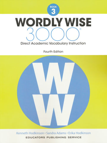 Wordly Wise 3000 Book 3 Student Book and Answer Key Set (4th Edition)