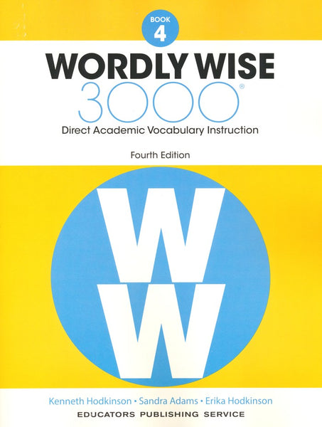 Wordly Wise 3000 Book 4 Student Book and Answer Key Set (4th Edition)
