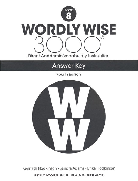 Wordly Wise 3000 Book 8 Student Book and Answer Key Set (4th Edition)