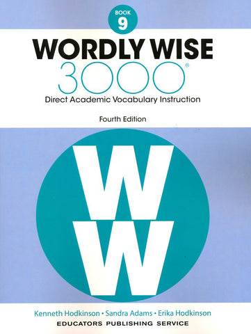 Wordly Wise 3000 Book 9 Student Book And Answer Key Set (4th Edition)