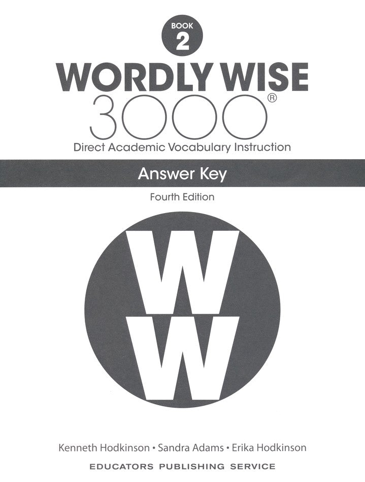 Wordly Wise 3000 Book 2 Student Book and Answer Key Set (4th Edition)