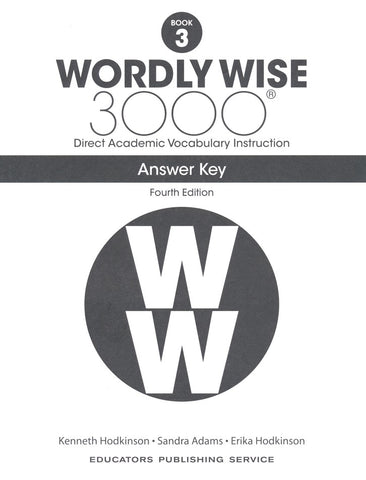 Wordly Wise 3000 Book 3 Answer Key (4th Edition)