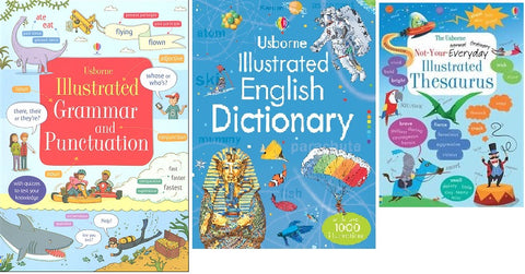 Usborne Illustrated Reference Set (3 book set)