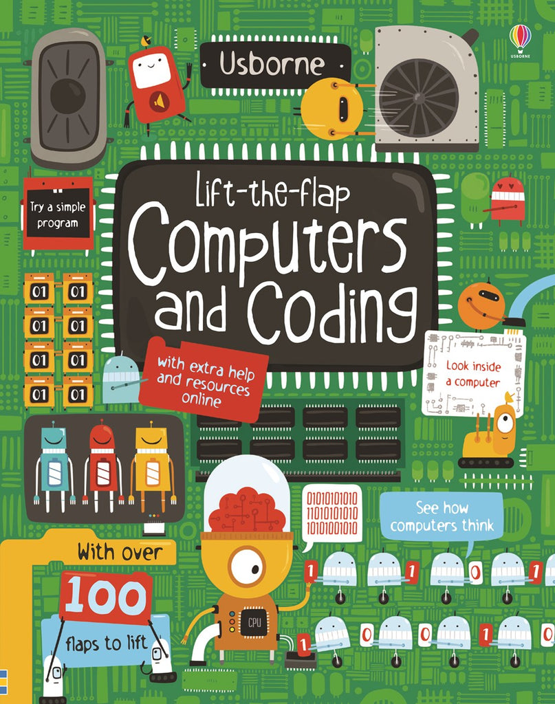 Usborne Lift-the-flap Computers and Coding Board Book IR