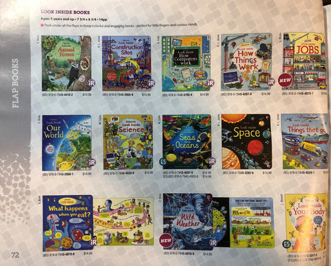 Usborne Look Inside Board Book Set (Any 8 books, write your choices in the Notes when ordering)