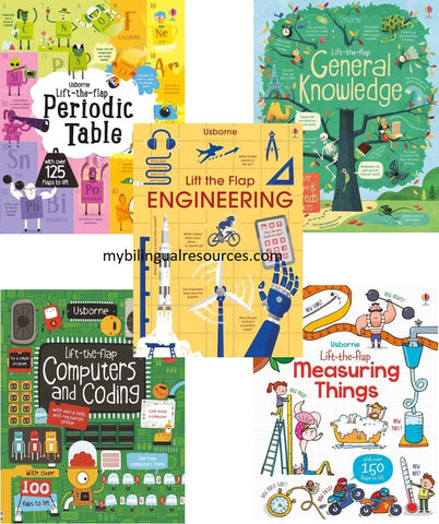Usborne Lift-the-flap Science and Engineering Board Book Set (5 Book Set)