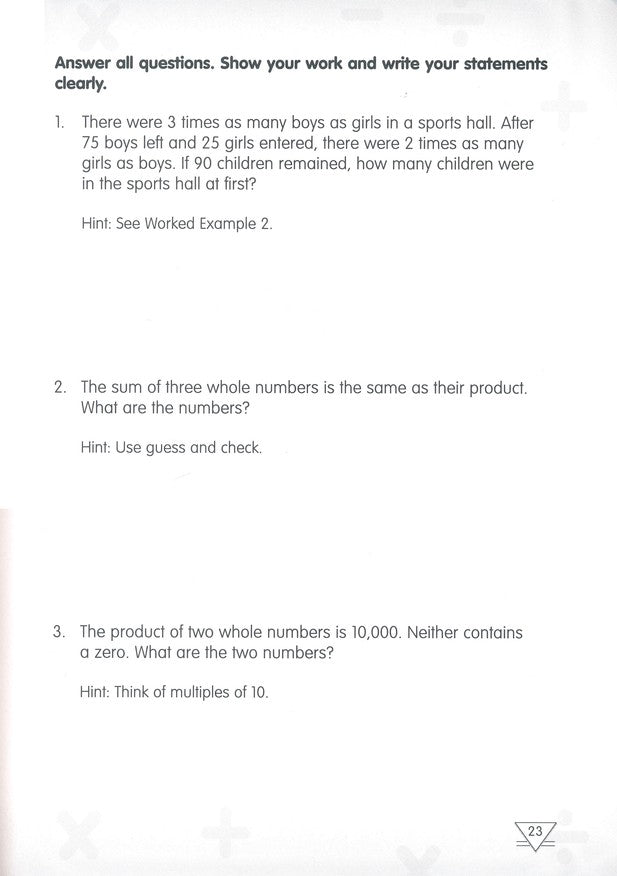 Challenging Word Problems in Primary Mathematics 4 Common Core ...