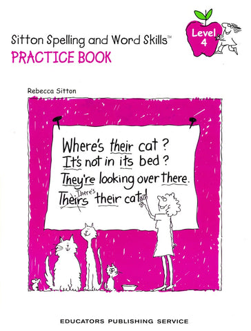 Sitton Spelling and Word Skills Practice Book 4 and Answer Key Set