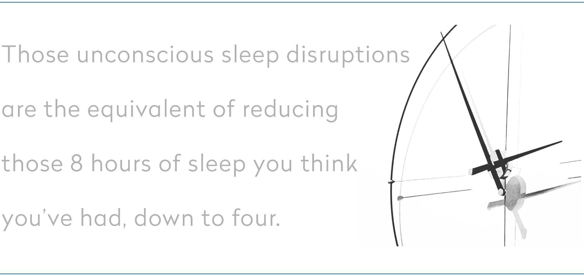 sleep disruptions are the equivalent of reducing 8 hours of sleep down to 4
