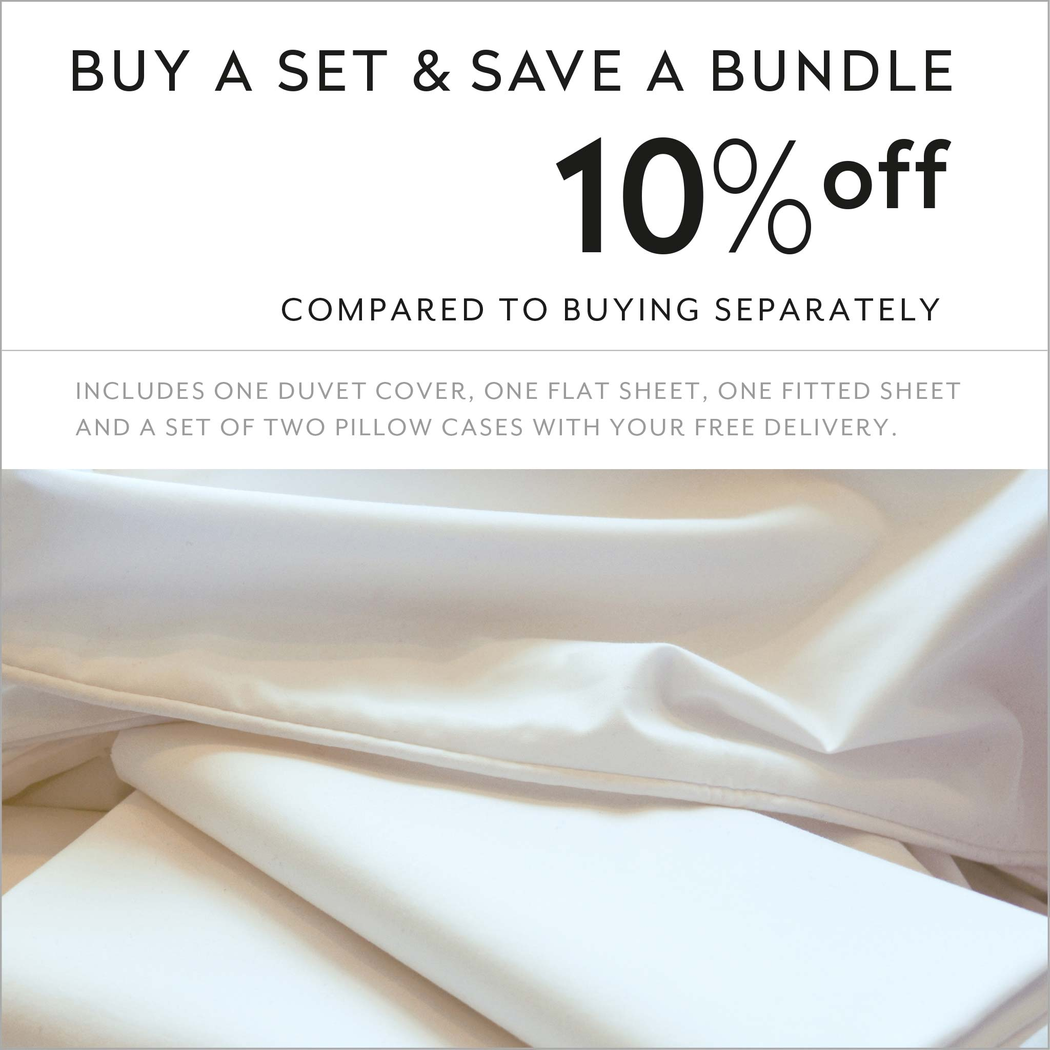ZayZay luxury linen set save 10 percent Untouched Snow duvet cover sheets pillowcase