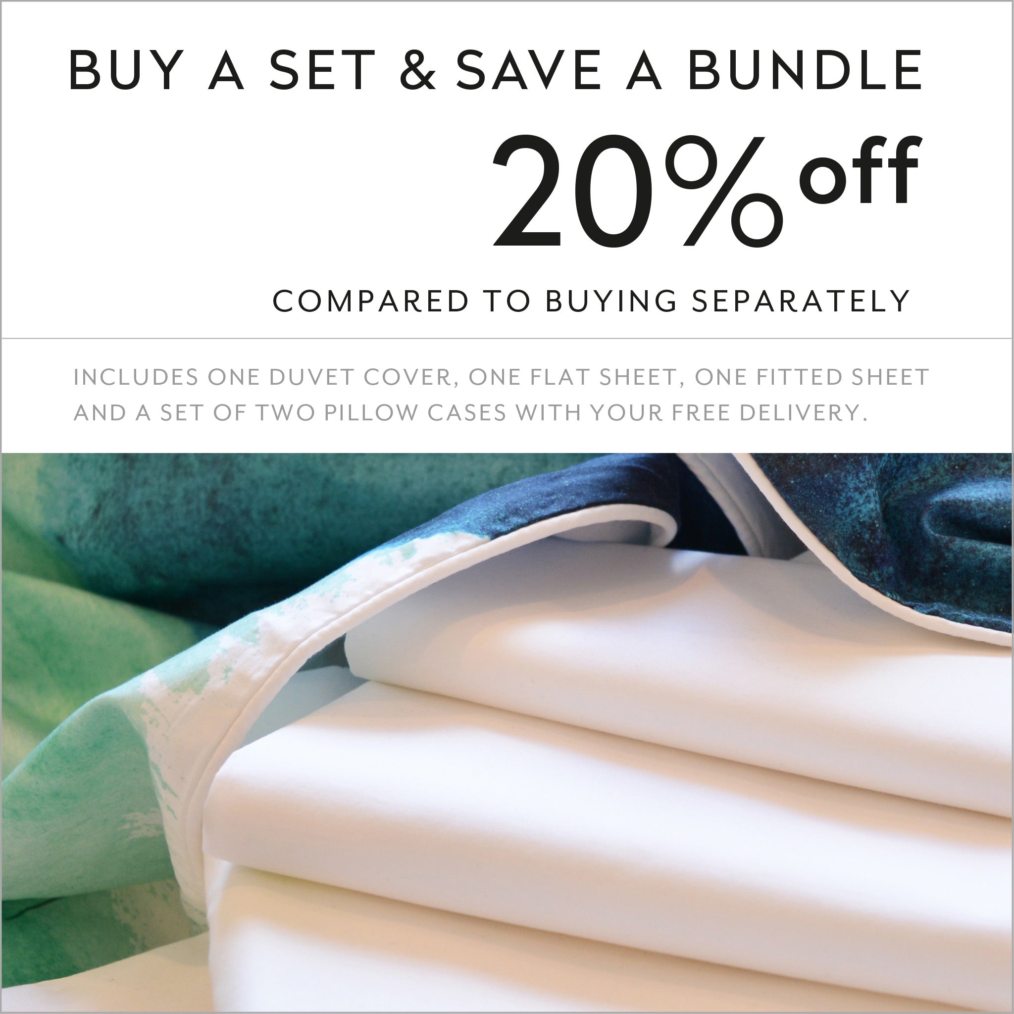 ZayZay luxury linen set save 20 percent off Blueberry Bisque designer duvet cover sheets pillowcase