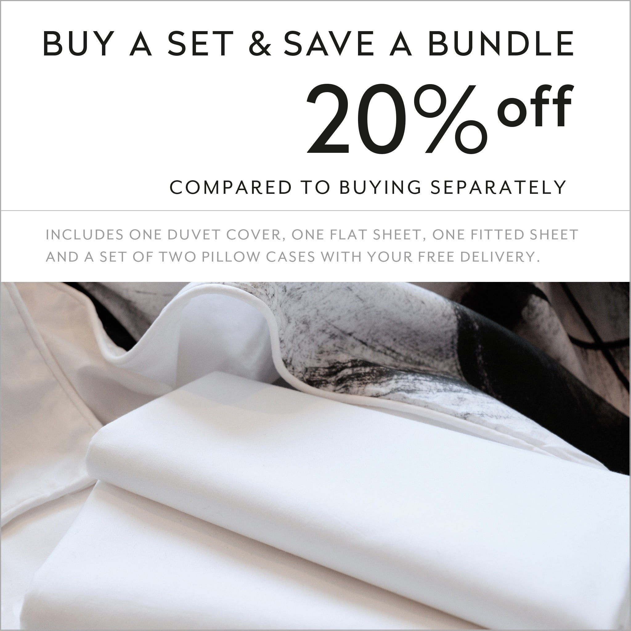 Buy a set and save 20% compared to buying separately cotton sheets and duvet cover design Through Brambles on the Moon