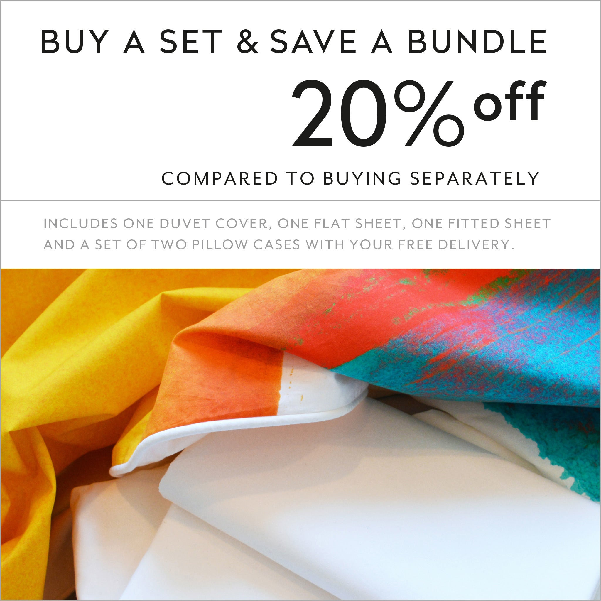 Buy a set and save 20% compared to buying separately cotton sheets and duvet cover design Moroccan Monday