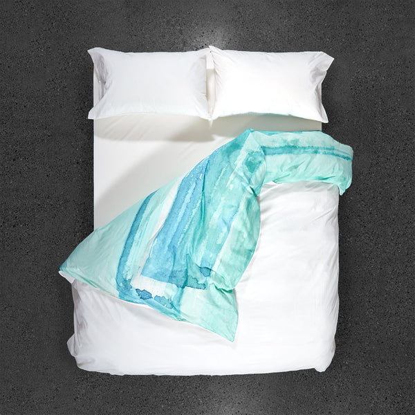 Paradisus Duvet Cover - Top View - Flipped Duvet