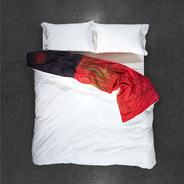 La Sevillana, Rebecca's Passion Duvet Cover - Top View - Flipped Duvet