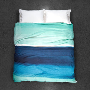 Blueberry Bisque Duvet Cover - Top VIew