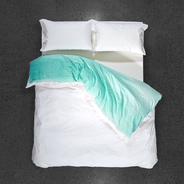 Blueberry Bisque Duvet Cover - Top VIew - Flipped Duvet