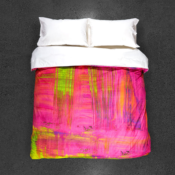 Pink Mojito Duvet Cover - Top View