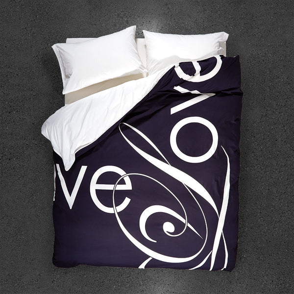 Penguin Love Duvet Cover - Top View