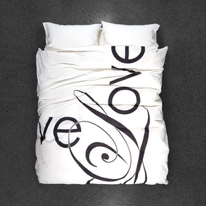 Love Song Duvet Cover - Top View
