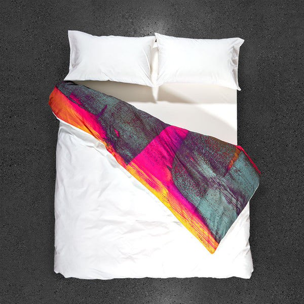 Release of the Unconscious Duvet Cover - Top View - Flipped Duvet
