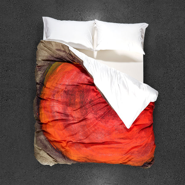 Volcano Duvet Cover - Top View