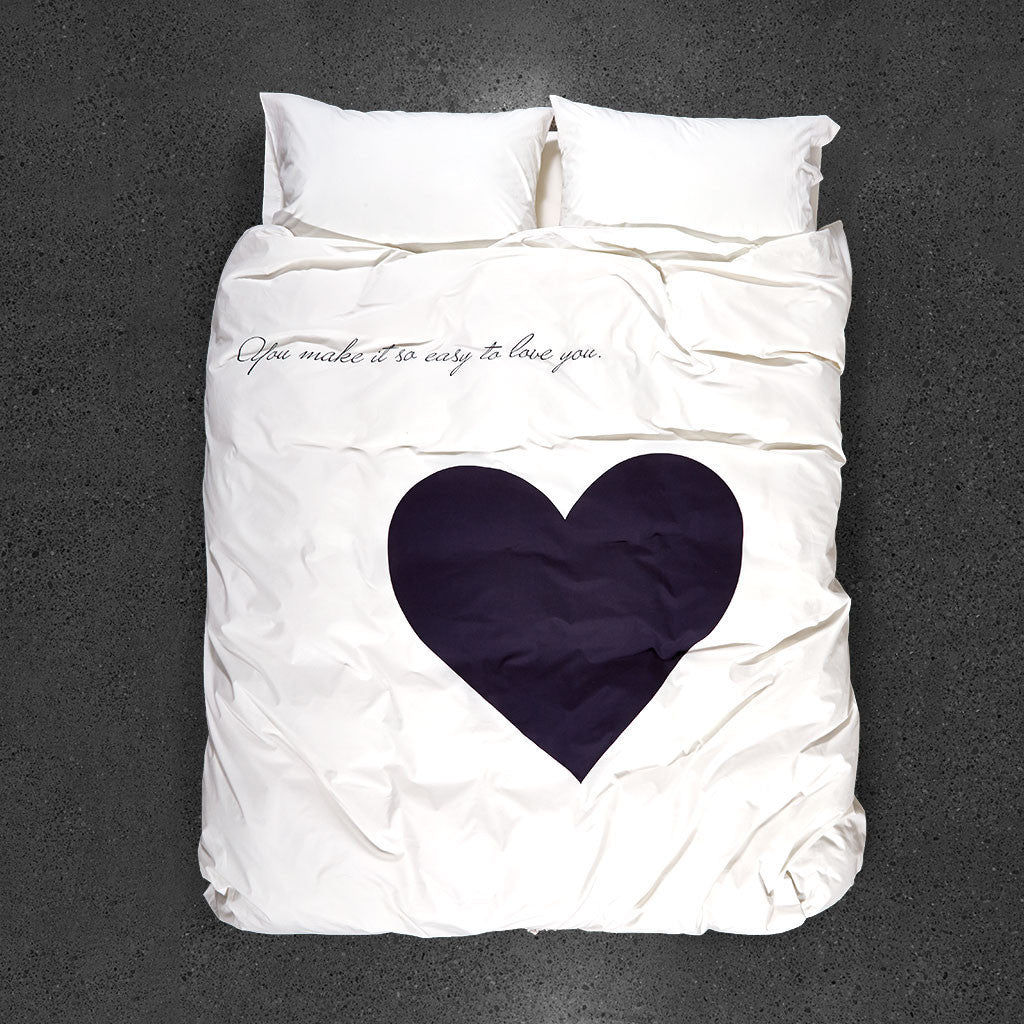 Easy to Love Duvet Cover - Top View