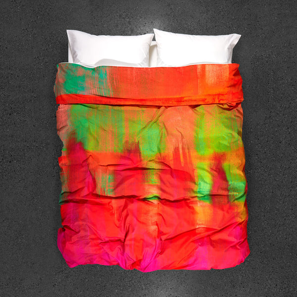 Apsara Dance Duvet Cover - Top View