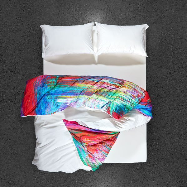 Madagascar Duvet Cover - Top View - Flipped Duvet