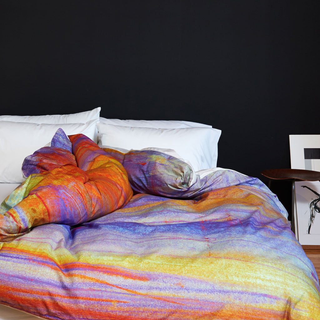 La Nuit Tombante en Printemps Duvet Cover - Room View
