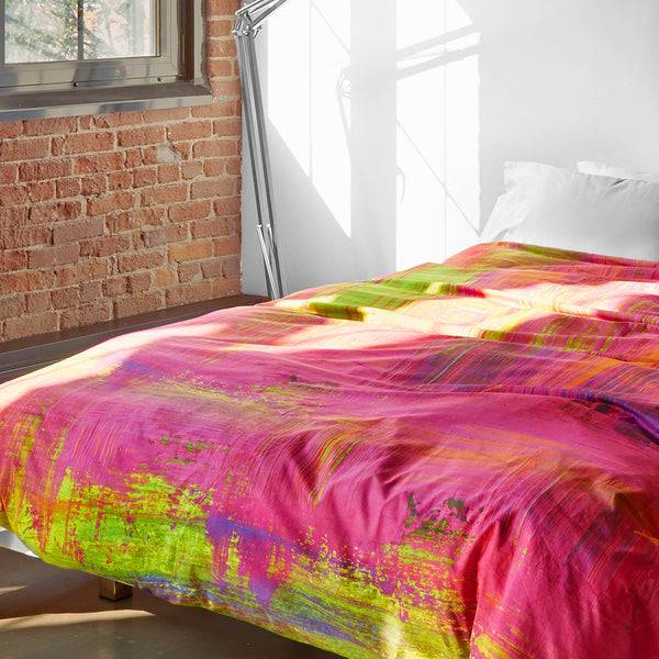 Pink Mojito Duvet Cover - Room View