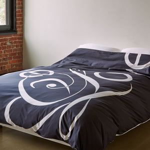 Penguin Love Duvet Cover - Room View