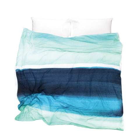 Contemporary duvet cover Blueberry Bisque design - feeling the blues