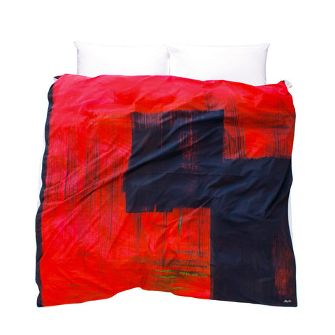 Modern duvet cover red and black La Sevillana, Rebecca's Passion design