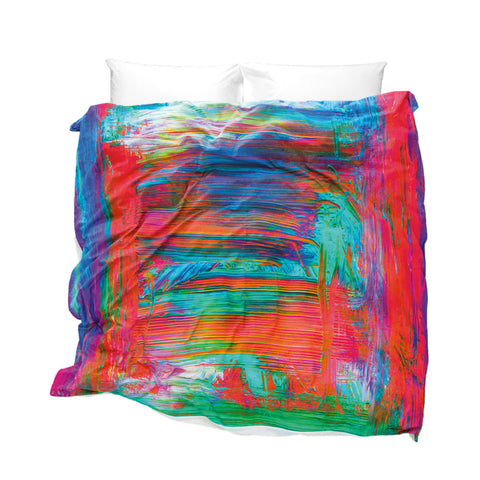 Unique Duvet Cover Madagascar design bright colours brush strokes