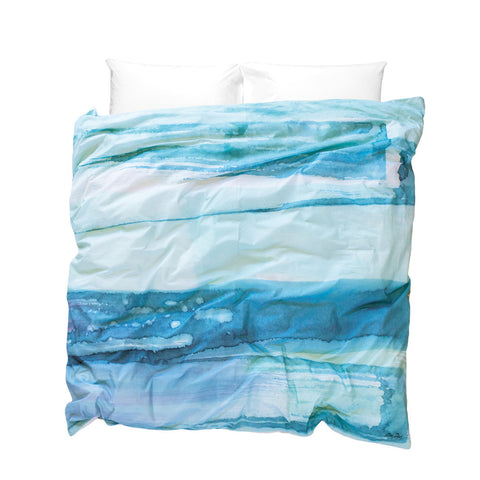 Paradisus Duvet Cover - inspired by the turquoise Caribbean Sea.