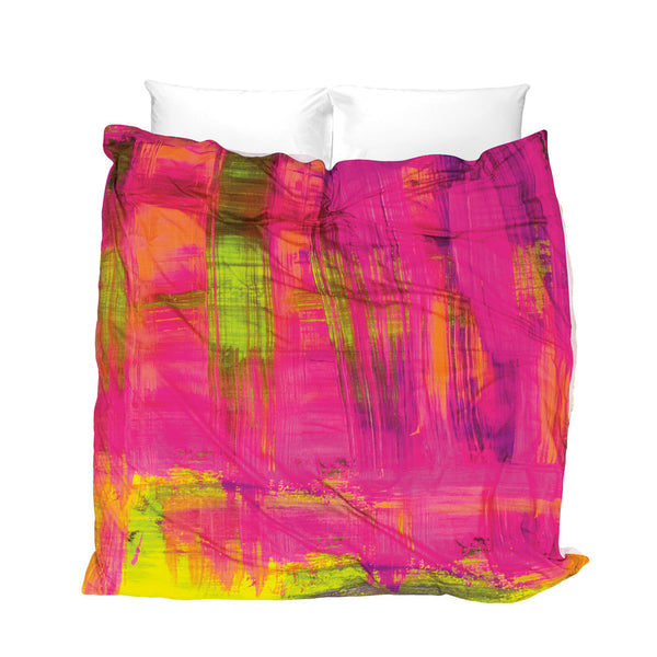 Pink Mojito Duvet Cover - steamy nights in Havana