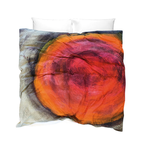 Unique Duvet Cover - Volcano design orange glow of burning embers